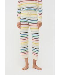 Chinti & Parker Cream Rainbow Stripe Cashmere Trousers - Natural