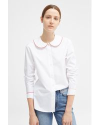 Chinti & Parker - White Puritan Collar Shirt - Lyst