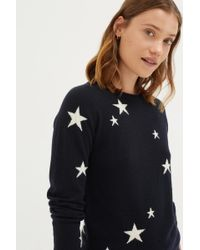 Chinti & Parker - Navy Star Cashmere Sweater - Lyst