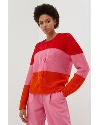 Chinti & Parker Red Giant Cable Wool-cashmere Jumper