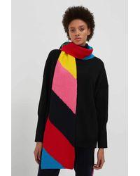 Chinti & Parker Chevron Wool-cashmere Ski Scarf - Multicolour