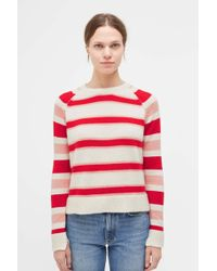Chinti & Parker - Striped Trapeze Cashmere Sweater - Lyst
