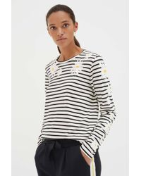 Chinti & Parker - Ivory Cotton Debbie Long Sleeve T-shirt - Lyst