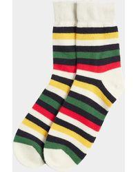 Chinti & Parker - Navy Colour Block Socks - Lyst