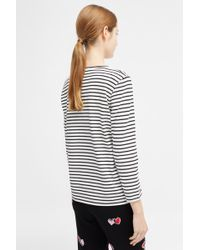 e47d27f31423 Comme Des Garçons Play Women s Twin Red Heart T-shirt White in Red ...
