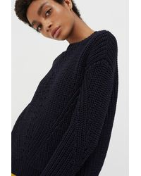 Chinti & Parker - Navy Le Soir Crew Neck Sweater - Lyst
