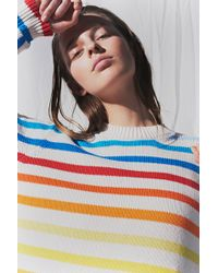 Chinti & Parker Rainbow Knit Jumper - Blue