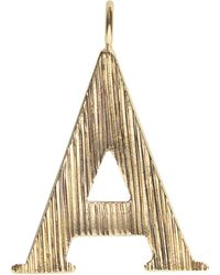 Chloé A - Pendentif pour sac Alphabet - Métallisé
