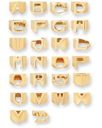 Chloé Alphabet Ring Walphabet Ring - Metallic