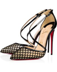 purple louboutins shoes - Christian louboutin Cross Blake 100mm Patent Red Sole Pump in ...