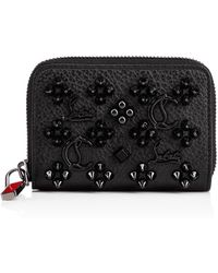 Christian Louboutin - Panettone Coin Purse Black/ultrablack Classic Leather - Lyst
