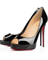 Christian Louboutin - Women's 1150600bk01 Black Patent Leather Court Shoes - Lyst