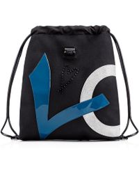 Christian Louboutin - Kaloubi Love Backpack Black And Multicolor Canvas And Calfskin - Lyst