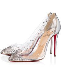 3f9d2e4a25e Lyst - Christian Louboutin Degrastrass Clear Embellished Pump