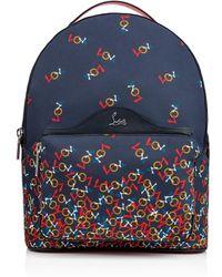Christian Louboutin - Backloubi Backpack Blue And Multicolor Nylon - Lyst