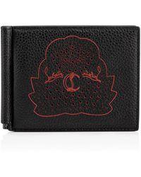 Christian Louboutin - Clipsos Wallet Black Calfskin - Lyst
