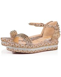 f35221fa8bcb Lyst - Christian Louboutin Madmonica Leather Espadrille Sandals in ...