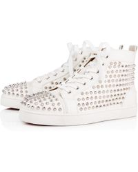 8f758e115ad8 Lyst - Christian Louboutin Louis Spikes Leo Men s Flat in Black for Men