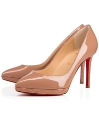 Christian Louboutin - Pigalle Plato Patent 100 Nude Patent Calfskin - Lyst