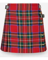 Christopher Kane Royal Stewart Tartan Mini Kilt - Red
