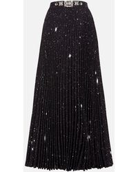 Christopher Kane Star Pleated Skirt - Black