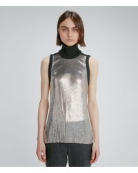 Christopher Kane Backless Chainmail Top - Metallic