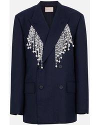 6476826e Pearl Tailored Jacket - Blue