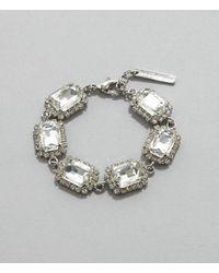 Christopher Kane Bridal: Crystal Stone Bracelet - Metallic