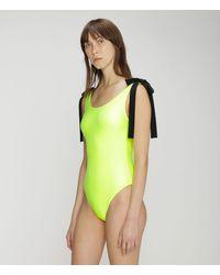 Christopher Kane Neon Tie Swimsuit - Yellow