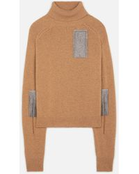 Christopher Kane Slash Sleeve Sweater - Brown