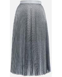Christopher Kane Pleated Lamé Mesh Skirt - Black