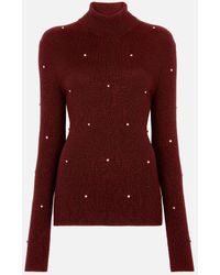 Christopher Kane Roll Neck Cable Jumper - Red