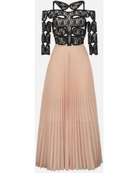 Christopher Kane - C String And Pleated Tulle Maxi Dress - Lyst