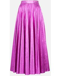 Christopher Kane Metallic Pleated Skirt - Pink
