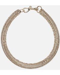 Christopher Kane Slim Bolster Necklace - Metallic