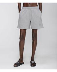 Christopher Kane More Joy Embroidered Jersey Shorts - Grey