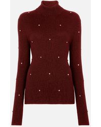Christopher Kane Roll Neck Cable Sweater - Red
