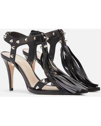 Christopher Kane Leather Whip Sandal - Black