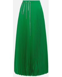 Christopher Kane squiggle Cupchain Pleated Skirt - Green