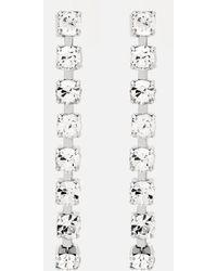 Christopher Kane - Crystal Chain Earrings - Lyst
