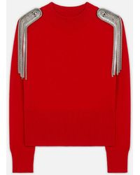 Christopher Kane Chain Detail Cropped Sweater - Red