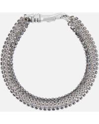 Christopher Kane Skinny Single Bolster Bracelet - Metallic