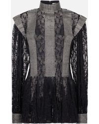 Christopher Kane - Crystal Lace Godet Dress - Lyst