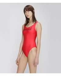 Christopher Kane Special Swimsuit - Red