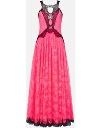 Christopher Kane Neon Lace Gown - Pink