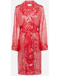 Christopher Kane - Plastic Lace Trench Coat - Lyst