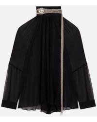 Christopher Kane Crystal Chain Blouse - Black