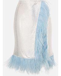 Christopher Kane Chanimail Feathered Wrap Skirt - Metallic