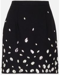 Christopher Kane Crystal-embellished Mini Skirt - Black