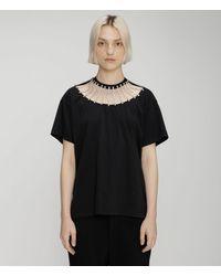 Christopher Kane Crystal Embellished T-shirt - Black